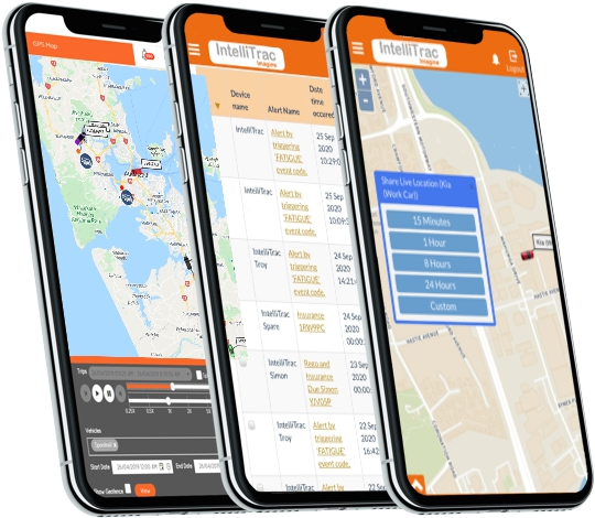 IntelliTrac GPS Tracking Telematics Apps